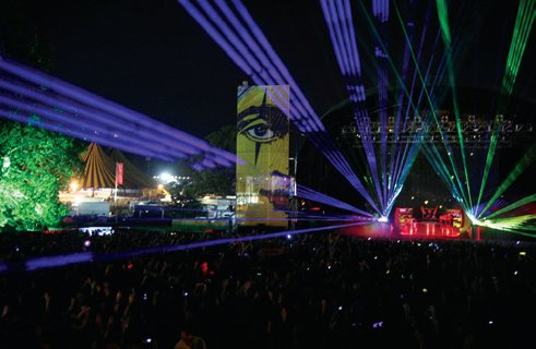 Bjork's lasers, Main Stage Friday 2007.