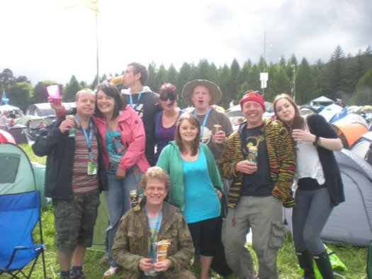 The Efest camping group Friday