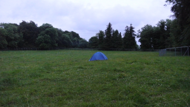 First tent in the Crew Camp.