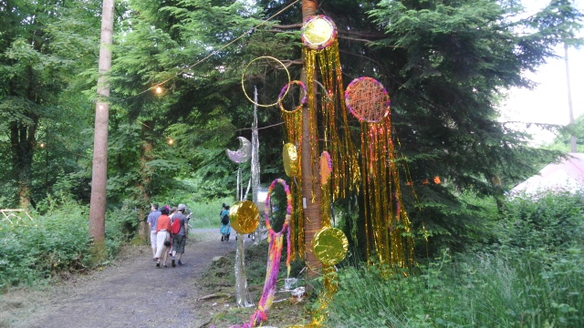 One of the beautiful decor installations, that got thrashed during the weekend.