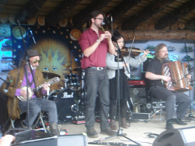GIRO at the Earthship Stage, Body&Soul Friday.