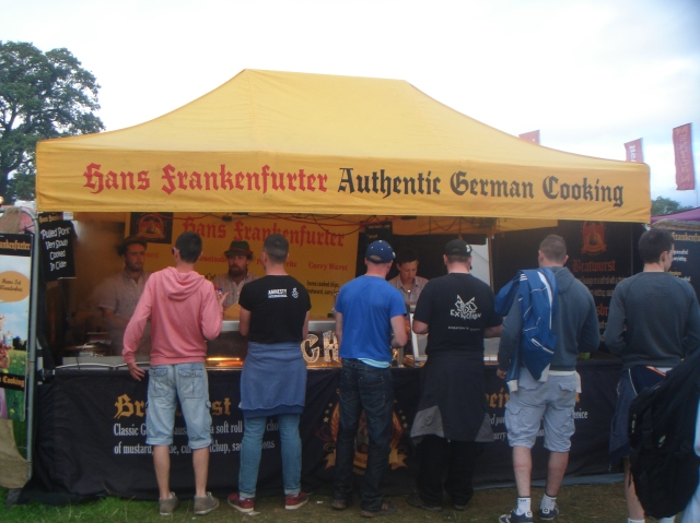 Hans Frankenfurter, German food stall at Electric picnic.