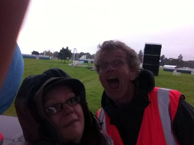Lisa Lawless and Myself on the Main Stage, Pre-Festival.
