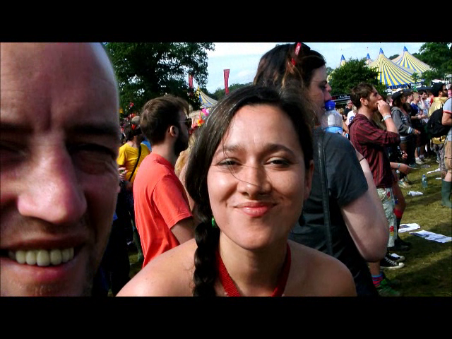 Aminah Dastan & her boyfriend at the main stage for the Wailers.
