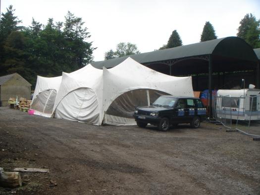 The Volunteer tent.