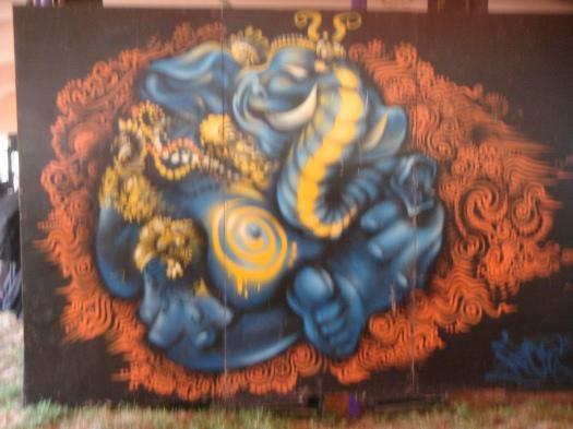 Art work in Chah Wallahs.