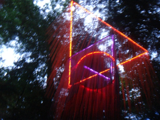 A gorgeous light installation near the Treehaus stage.