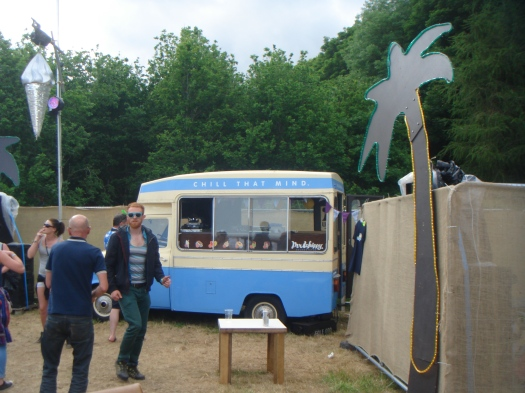 Cool ice cream van blasting out the funk in the main arena.