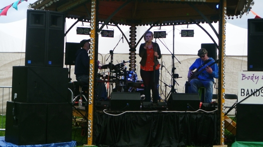 Mud Bubble on the Body & Soul Bandstand Stage.
